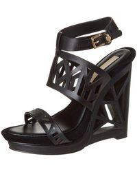 BCBGMAXAZRIA - Bcbg Maxazria Sato Wedge Platform Black Shoes - Lyst
