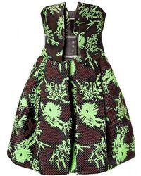 KENZO - Monster Strapless Jacquard Dress - Lyst
