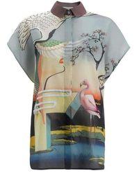 Mary Katrantzou Fenmore' Cotton Flamenco Shirt - Multicolor