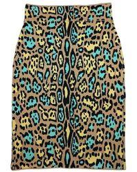 BCBGMAXAZRIA Lucine Leopard Print Pencil Skirt - Multicolour