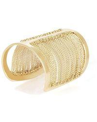 BCBGMAXAZRIA Draped Chain Gold Tone Cuff Bracelet Jssje834 - Metallic