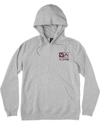 RVCA - Flipped Box Embroidery Hoodie - Lyst