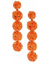 Sachin & Babi - Fleur Bouquet Earrings - Orange - Lyst