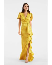 Sachin & Babi Saoirse Gown - Yellow
