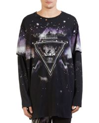 Balmain - Galaxy Pyramid Print Sweatshirt - Lyst