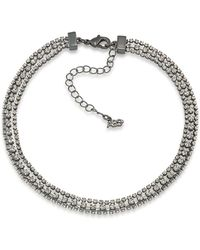 ABS By Allen Schwartz - All Choked Up Three-row Crystal Choker - Lyst