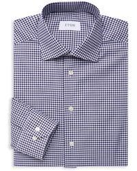 Eton of Sweden - Slim-fit Check Cotton Dress Shirt - Lyst