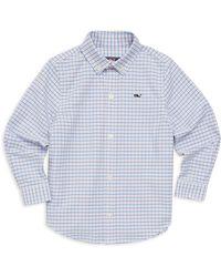 Vineyard Vines - Little Boy's & Boy's Belle Haven Plaid Oxford Shirt - Lyst