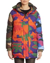 Moschino Camouflage Puffer Coat - Multicolor