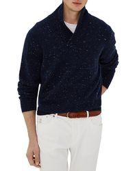 Brunello Cucinelli Donegal Cashmere & Wool Sweater - Blue