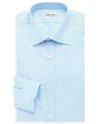 Charvet Striped Cotton Dress Shirt - Blue