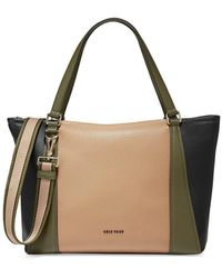 Cole Haan Large 24/7 Soft Colorblock Leather Tote - Natural