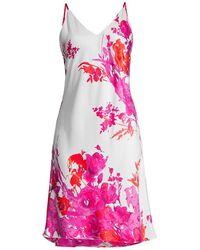 Natori - Bloom V-neck Slip Dress - Lyst