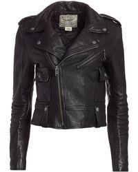 Polo Ralph Lauren Leather Moto Jacket - Black