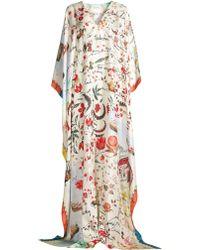 Oscar de la Renta - Women's Floral Silk Kaftan - Lyst