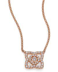 De Beers | Enchanted Lotus Diamond & 18k White Gold Mini Pendant Necklace | Lyst