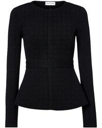 Scanlan Theodore Crepe Knit Curved Hem Jacket - Black