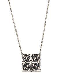 John Hardy - Modern Chain Black Sapphire & Sterling Silver Pendant Necklace - Lyst