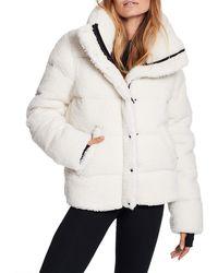 Sam. Sam. Isabel Sherpa Puffer Down Jacket - White