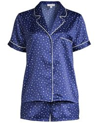 In Bloom Cypress 2-piece Short Pajama Set - Blue