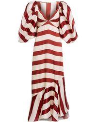 Johanna Ortiz Parada Bolero Striped Dress Set - Red