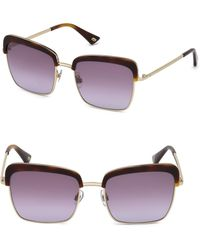 Web - 55mm Violet & Havana Square Sunglasses - Lyst