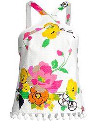 Trina Turk Jamaica Floral Halter Top - Multicolor