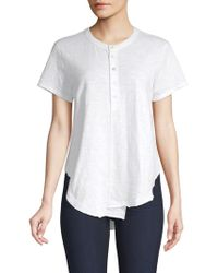 Wilt - Women's Shifted Shrunken Henley - White - Size Large - Lyst