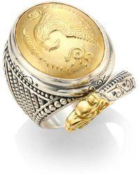 Konstantino - Gaia Snake-detail Oval Ring - Lyst