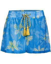 Ramy Brook Tessa Floral Shorts - Blue