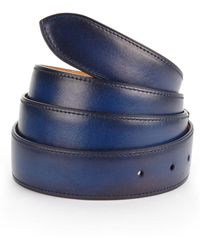 Corthay French Leather Belt - Blue