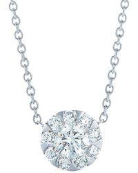 Kwiat Sunburst 18k & Diamond Silhouette Pendant Necklace - Metallic