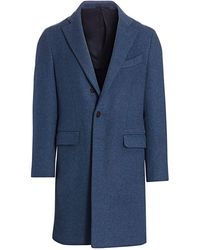 Eidos - Regular-fit Single-breasted Wool & Cashmere Coat - Lyst