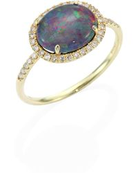 Meira T - Diamond, Opal Triplet & 14k Yellow Gold Ring - Lyst