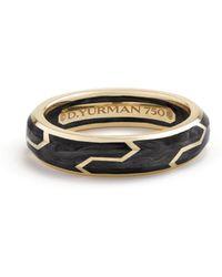 David Yurman - Forged Carbon 18k Yellow Gold Band Ring - Lyst