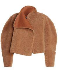 Isabel Marant Acaciae Reversible Shearling Coat - Brown