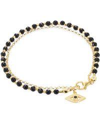 Astley Clarke - Biography Black Spinel & White Sapphire Evil Eye Bracelet - Lyst