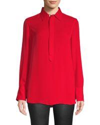 Polo Ralph Lauren - Collared Long Sleeve Blouse - Lyst