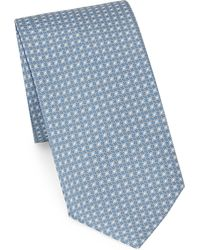 Brioni - Concentric Ovals Printed Tie - Lyst