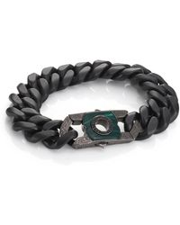 Stephen Webster - Black Sapphire, Malachite & Sterling Silver Clasp - Lyst