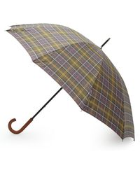 Barbour Tartan Golf Umbrella - Gray