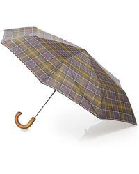Barbour Classic Tartan Telescopic Umbrella - Brown