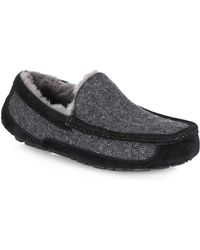 UGG Ascot Tweed Slippers - Gray