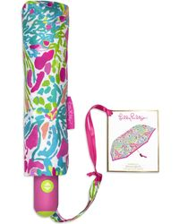 Lilly Pulitzer Printed Travel Umbrella - Multicolor