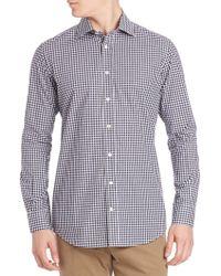 Luciano Barbera - Mini Check Shirt - Lyst