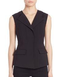 BCBGMAXAZRIA Solid Sleeveless Vest - Black