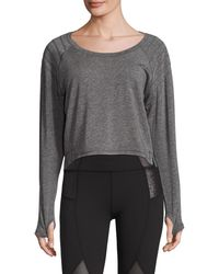 Vie Active - Moto Long Sleeve Slouchy Top - Lyst