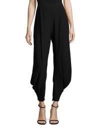 Polo Ralph Lauren Crepe Harem Pants - Black