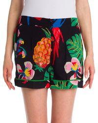 Valentino Tropical Dream Silk Shorts - Multicolor