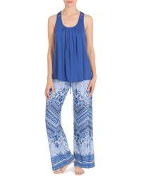 In Bloom - Moonrise Paisley Printed Pajamas - Lyst